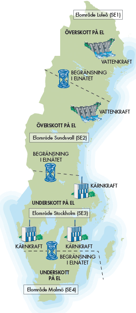 elområden sverige karta